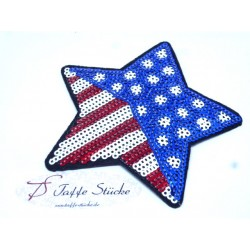 Patch - USA Stern - Pailletten