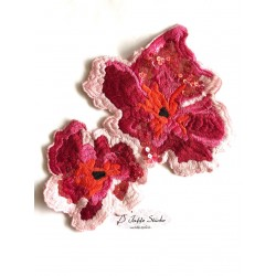 Patch - PinkRosa Blumen  -...